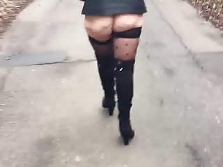 Wife out for a walk
