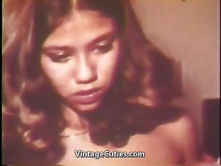 Asian Babe gets Drunk and Fucks (1970s Vintage)