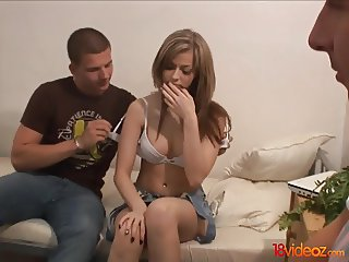 18 Videoz - Sex for cash turns shy girl into a slut