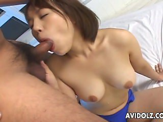 Asian with a blue panty getting fucked intere