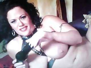 Horny pvc booted milf  want dick
