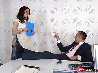 Fucking The Audit Lady In Her Office