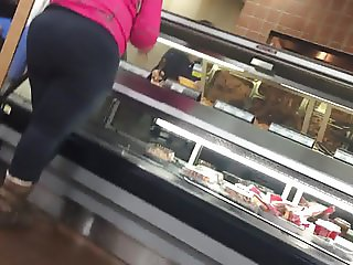 Big Black Ghetto Booty in Grey Leggings