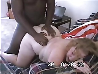 Interracial FFM With Blonde BBW + Busty Redhead