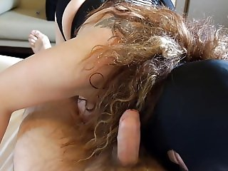 Session March 2017: slave lick feet, ball and cock