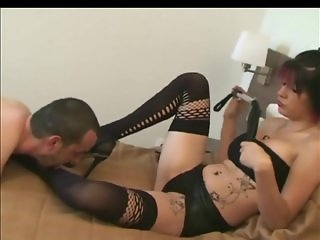 Mistress enjoying oral slave