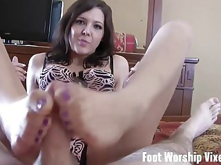 Can I jerk your cock with my feet