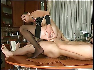 Mature Russian Emilia fucks in the ass with a guy