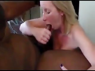 Swinger wife creampied by black man as hubby films