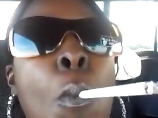 Ebony Car Smoking