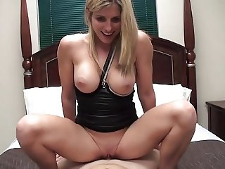 Gorgeous blonde MILF takes care of her not son