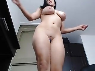 Webcam big natural tits orgasm