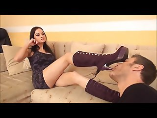 Domme gets Boots licked