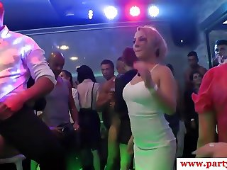Euro amateur babes cocksucking in sexparty