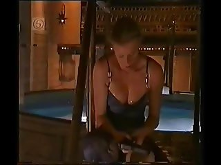 Peta Wilson Open Wide. Black Panties