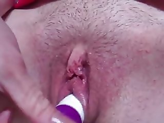 Little pussy and dildo