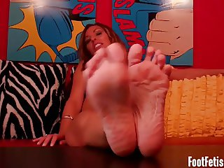 Stare at my feet while you jerk your cock JOI