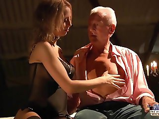 Seductive young babe sex with horny old man Teen Fucked