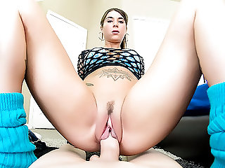 Watch Felicity Feline ass bouncing on a fat hard cock