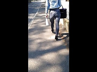 hot blonde big ass walking