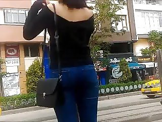 Sexy Ass and Downblouse of Turkish Teen