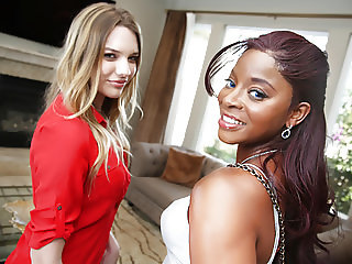 Interracial Lesbian Sex With Kenna James & Jasmine Webb