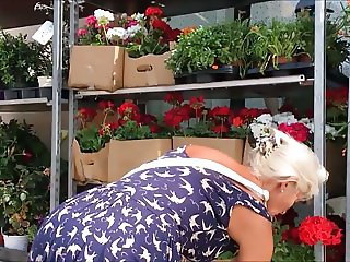GRANNY AND FLOWERS