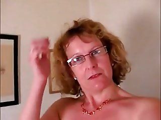 My mother films herself