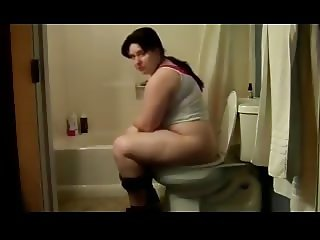 Butthole Girls 11 - Plump Girl on the Toilet
