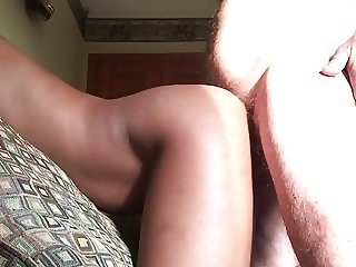 Bent over for her white daddy