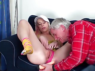 She Loves Old Men -3 ,cut 1 (#grandpa #old man #dad)