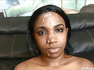 Black whore Tatyonna hates getting throat & pussy destroyed