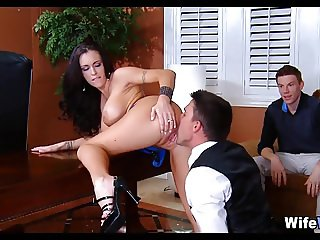 Wife Cheats in front of Her Husband