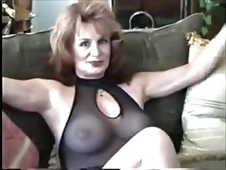 Milf in black lingerie