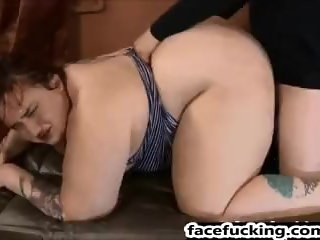 (new) Miserable BBW Curvy Quinn throated and pounded hard
