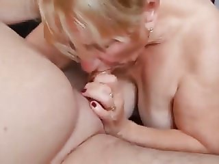 Grandma blows her lover