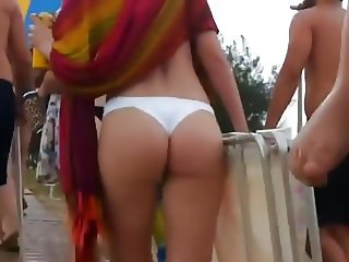 The whole beach was looking at her ass