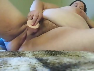 Young bbw with hairy meaty pussy is horny again