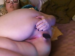 Cute chubby girl buttplug