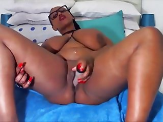 Ebony princess with real pretty huge melons for tittyfuck