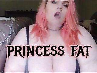 bbw slut princess fat cums on a big dildo