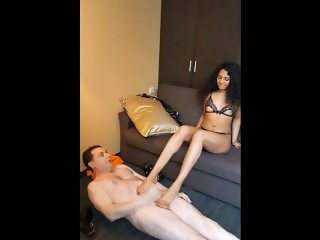 Luckyrose007: ballbusting Andrea Diprè and having sex with him