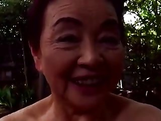 Japaneese granny, siep2 - sucking