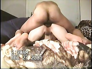 Hairy amateur wife rides 1st time VHS re-edit