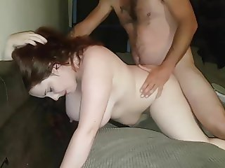 Amateur BBW Mrs Swinging Cuckold Creampie - I film it