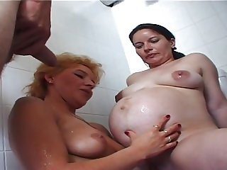 Pregnant slut mom enjoys the opened life style