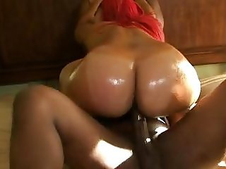 SBBW African American big butt threesome