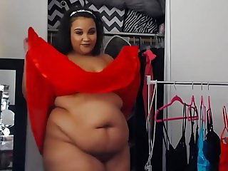 Bbw teen changing sexy clothes