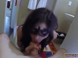 Amateur teen sucks huge cock hot abused