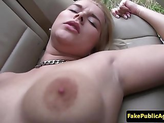 Pickedup euro amateur pounded in the car POV